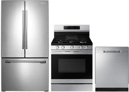 3-Piece Kitchen Package with RF261BEAESR 36 inch  French Door Refrigerator  NX58H5600SS 30 inch  Freestanding Gas Ranges  and DW80K5050US 24 inch  Built In Fully Integrated