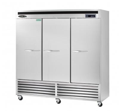 KBSF3 Triple Door Freezer Bottom Mount Compressor with 72 cu.ft. Capacity  9 Shelves  LED Interior Lighting  Digital Temperature Display  in Stainless