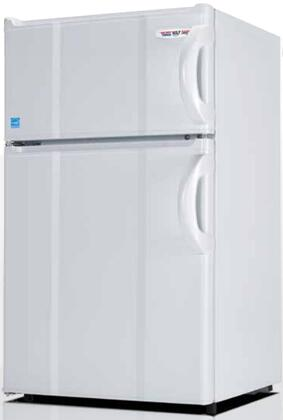 3.0LMF4RW 19 inch  Energy Star Top Freezer Compact Refrigerator with 3 cu. ft. Capacity  0 Degree Freezer  Tall Bottle Storage  and Crisper  in White and Left