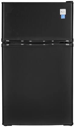 Avanti RA31B1B 19 3.1CF Two Door Counter High Refrigerator Black
