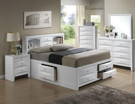 G1570G-FSB3BDMNC 5-Piece Bedroom Set with Full Size Storage Bed + Dresser + Mirror + Single Nightstand + Chest  in