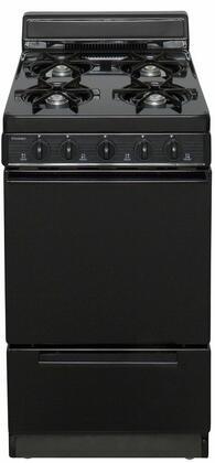 "Premier 20"" Freestanding Gas Range Black BAK100BP"