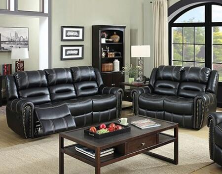 Frederick Collection CM6130-PM-SL 2-Piece Living Room Set with Motion Sofa and Motion Loveseat in
