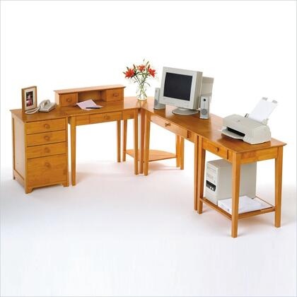 99555 Studio 5pc Home Office Set in Honey