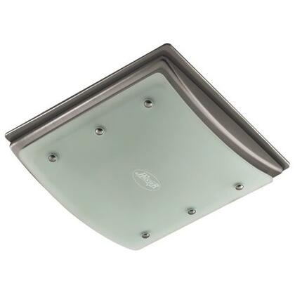 90064 Ellipse Bathroom Fan with Light and Nightlight  Brushed Nickel with Bent-Alabaster