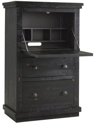 Willow A612-71 Armoire Desk with Solid Pine Construction  Simple Pulls and Two Drawers in Distressed