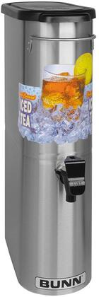 "396000031 Oval Style Narrow Iced Tea and Coffee Dispenser with 448 oz/hr Capacity(3.5 Gal.)  Solid Lid  Lift Handle  8"""" Cup Clearance  Front - Back Handles"" 741909"