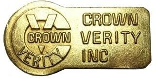 ZCV-2003-K Bronze Crown Verity Nameplate 686418