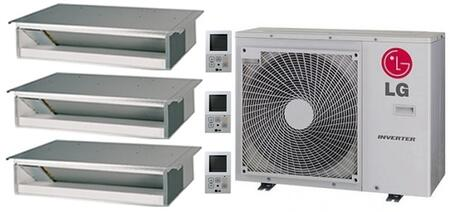 LMU30CHVPACKAGE47 Triple Zone Mini Split Air Conditioner System with 39000 BTU Cooling Capacity  3 Indoor Units  and Outdoor 704237