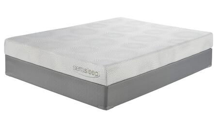 M97131/m81x32 7 Inch Thick Standard Memory Foam Mattress And Foundation Set In Queen