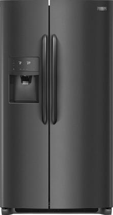 Frigidaire FGSC2335TD 36 Inch Freestanding Counter Depth Side by Side Refrigerator with 22.2 cu. ft. Capacity, in Black Stainless Steel