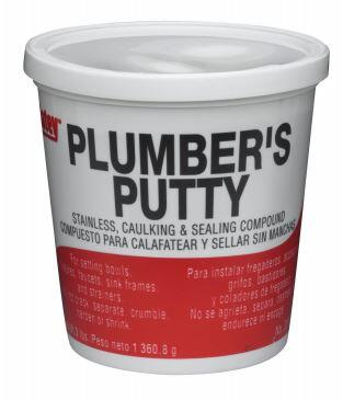 31166 14 oz. Plumbers Putty with Soft-Pliable Formula and Stainless Steel Fixture