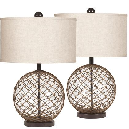 FSD-LMP-73TSBN-GG Exceptional Table Lamp Designs by Flash Regina in Wrapped Transparent Glass Set of