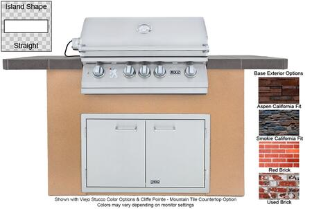 90104 Prominent Q L75000 Premium Stainless Steel Grill with Stucco Base  Tile Countertop  Stainless Steel Double Door with Towel Rack  GFCI Outlet and Bottle
