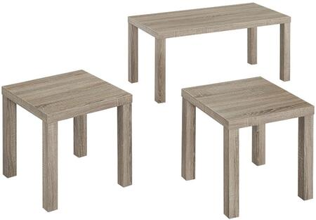CES3PKAG 3-Pack Wood Coffee End Table Set with 2 Side Tables and 1 Coffee Table in
