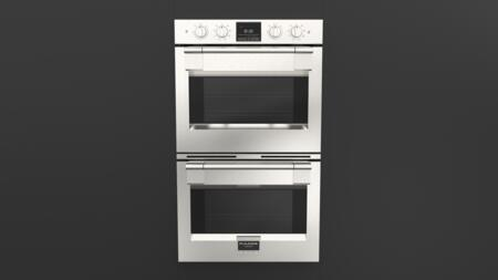 F6PDP30S1 30 inch  600 Series Pro Double Wall Oven with 8.8 cu. ft. Total Capacity  Self Cleaning  Dual Convection  3 Halogen Lighting  2 Chrome Racks and a