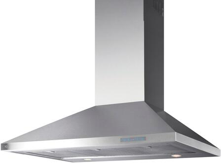 XOV36S 36 Chimney Style Wall Mount Hood with 700 CFM  Illuminated Touch Control  Halogen Lighting  Stainless Steel Filters  in Stainless