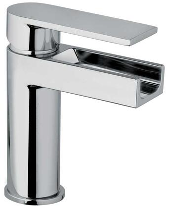 14211WFS-82 Single Joystick Handle Lavatory Faucet With Waterfall Spout Brushed Gold