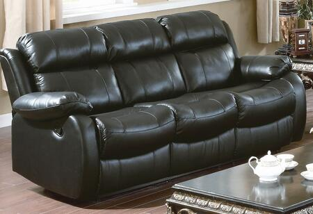 WE9918S-BK Weston 82 inch  Recliner Sofa in