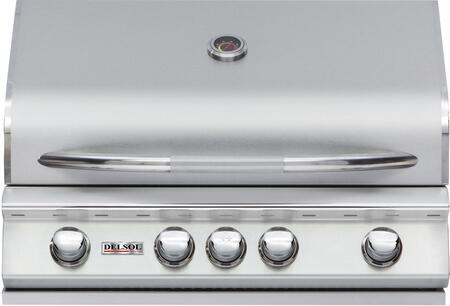 DSBQ32RL 32 inch  Liquid Propane Built-In Grill with 304 Stainless Steel Construction  42000 BTU Max Heat Output  4 burners  Integrated Temperature Gauge  and