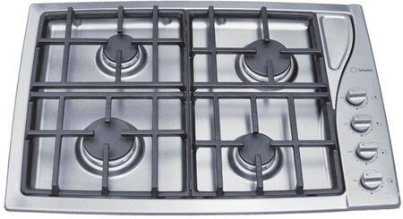 TG304IXGHNA 30 inch  Sealed Burner Gas Cooktop With 4 Burners  Cast Iron Continuous Grates  Handy Spoon Holder  Automatic Re-Ignition  In Stainless