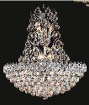 Firework Collection 99005D24C 24 inch  Wide Chandelier in Chrome