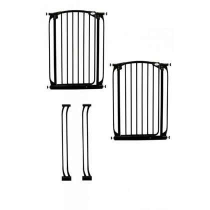 L788B Madison Xtra Tall Swing Close Gate Extra Value Pack with 2 Gates and 2 Extensions in