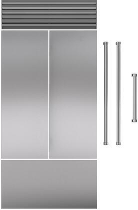 Stainless Steel Door Panel for 42 French Door RefrigeratorFreezer with Pro Handle  1 Door and  1 Handle Set