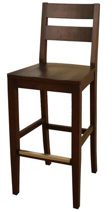 Tyler Series 130813SR.1 30 Traditional Bar Stool with Mortise and Tenon Construction and Floor Glides Finished in Sierra (Set of 2