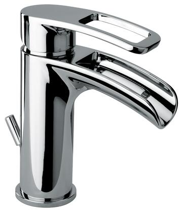 10211WFS-45 Single Loop Handle Lavatory Faucet With Waterfall Spout Antique Black
