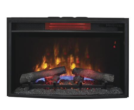 """25II310GRA 25"""" SpectraFire Plus Infrared Electric Fireplace Insert with Digital Thermostat Remote Control Auto Shut-Off Timer and Tempered Glass Front in"""