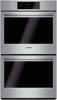 """Bosch - 800 Series 30"""" Built-In Double Electric Convection Wall Oven - Stainless Steel HBL8651UC"""