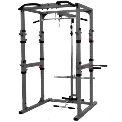 XM-7620-21 Power Cage with Lat Pulldown  Low Row Attachment  Heavy Duty 11-Gauge 2 inch  x 3 inch  Steel Construction and Triceps Dip