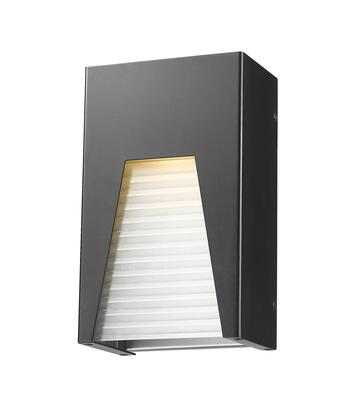 Millenial 561S-BK-SL-FRB-LED 6 1 Light Outdoor Wall Light Contemporary  Metropolitan  Modernhave Aluminum Frame with Black Silver finish in Frosted
