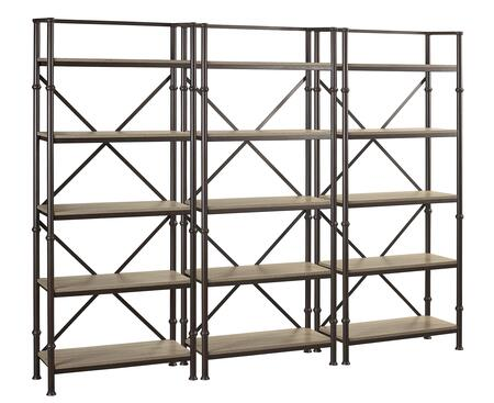 Durham LB-DUR-K-BS72X3 Bookcase Wall Set with Three 72