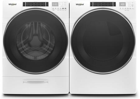 White Front Load Laundry Pair with WFW8620HW 27