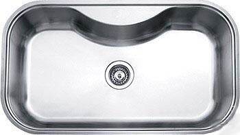 D810 32 inch  Wide Undermount Single Bowl Sink - 18 Gauge: Stainless