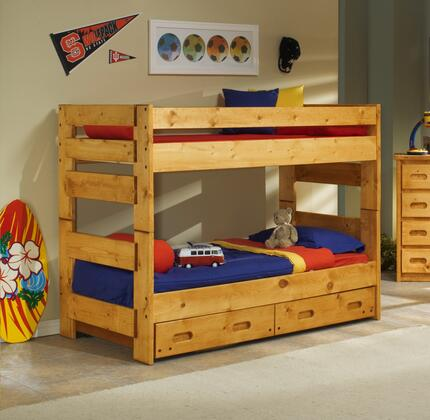 3544710-4711-T Twin Over Twin Bunk Bed with Trundle