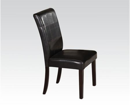 71067 19 inch  Side Chair with PU Leather Upholstered Seat and Back  Stitched Detailing and Tapered Legs in