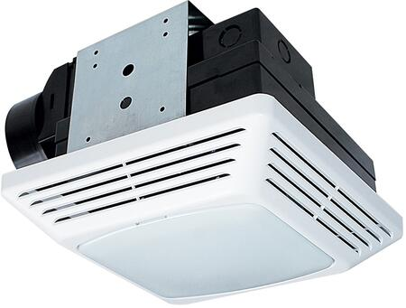 BFQL50 Exhaust Fan with 50 CFM  Lighting  PC/ABS Polymeric Housing  and Polymeric Grill  in