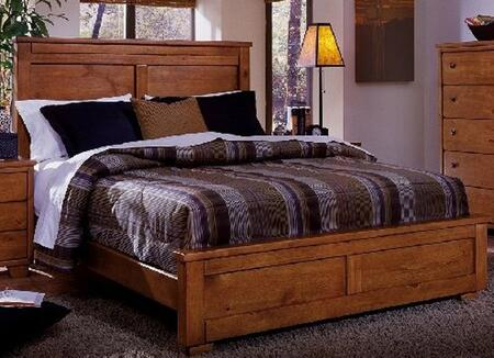 Diego 61652-34-35-77 Queen Bed with Headboard  Footboard and Side Rails in Cinnamon