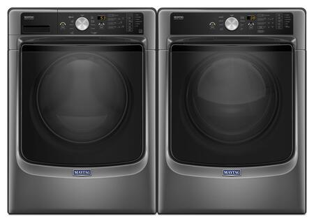 Metallic Slate Front Load Laundry Pair with MHW5500FC 27