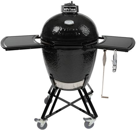 773 All-In-One Kamado Round Charcoal Grill with Premium Grade Ceramics  Reversible Cooking Grates and Cast Iron Top Vent in