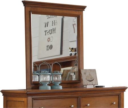 Lacey Collection 30559 35 inch  x 39 inch  Mirror with Rectangle Shape  Raised Panels and Pine Wood Construction in Cherry Oak