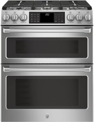 C2S995SELSS 30 inch  Slide In Front Control Dual Fuel Double Oven with Convection Range  6.7 cu. ft. Capacity  21 000 BTU Multi-Ring Burner  Wi-Fi Connect  and Chef