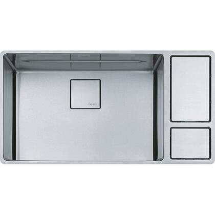 Chef Center Series CUX11024-W 34 inch  Stainless Steel Kitchen Sink with Integrated Cutting Board and 18-Gauge Stainless
