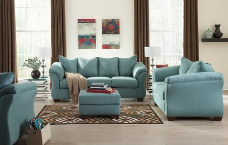 Darcy 75006SLOC 4-Piece Living Room Set with Sofa  Loveseat  Ottoman and Chair in