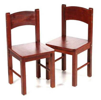 1408C Child's Pair Of Solid and Durable Rectangle Chairs in