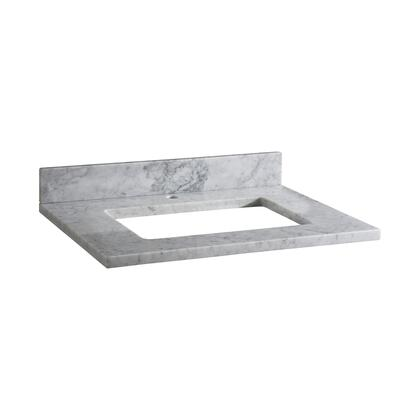 MAUT31RWT1_Stone_Top__31inch_for_Rectangular_Undermount_Sink__in_White_Carrara_Marble_with_Single_Faucet