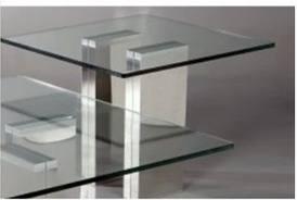 SABRINA-LT Sabrina 27 Inch Square Glass Lamp Table in
